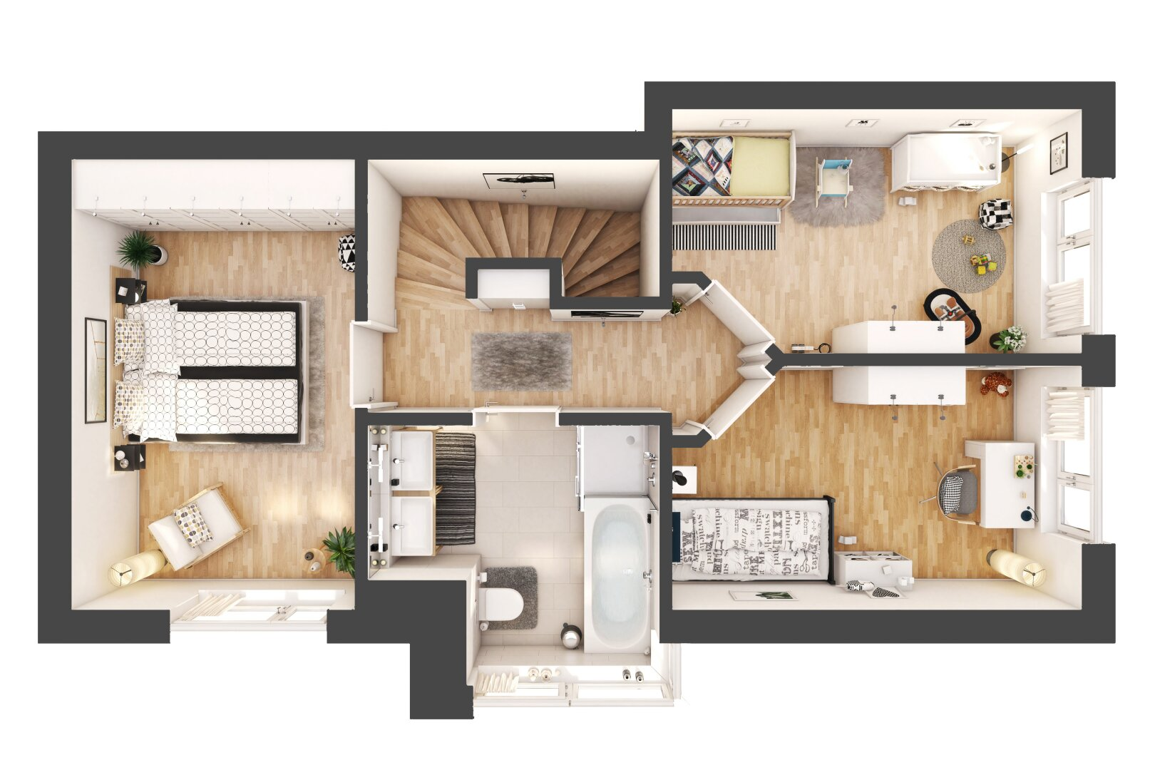 3 D Grundriss Obergeschoss