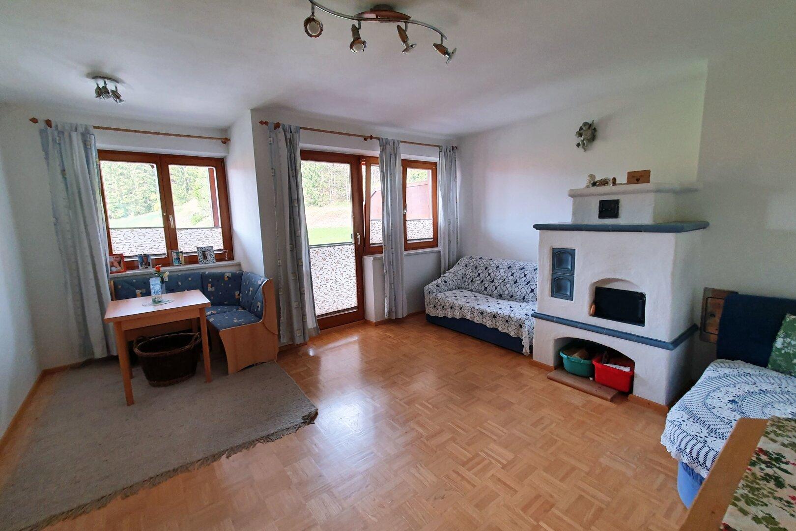 Wohnzimmer Ansicht 1, 4-Zimmer-Wohnung, Scheffau am Wilden Kaiser