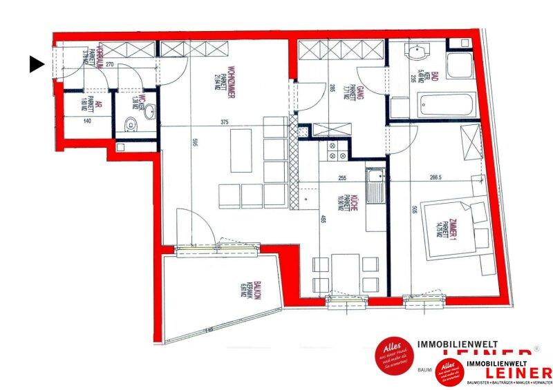 Schwechat: freundliche 2 Zimmer Eigentumswohnung im Zentrum Objekt_11274 Bild_694