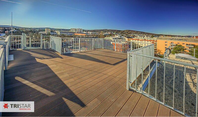 NEU! ++ Erstbezug nähe U4 (Unter-St.-Veit): 3 Zimmer DG- Wohnung mit 2 Terrassen + Dachterrasse mit herrlichem Wienblick, 1140 Wien (Top 16) ++