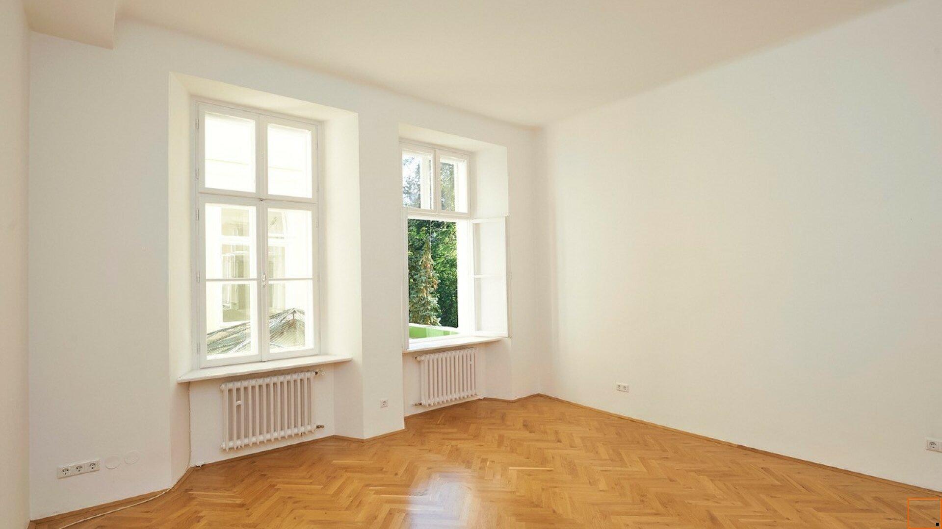 Schlafzimmer mit Blick Innenhof