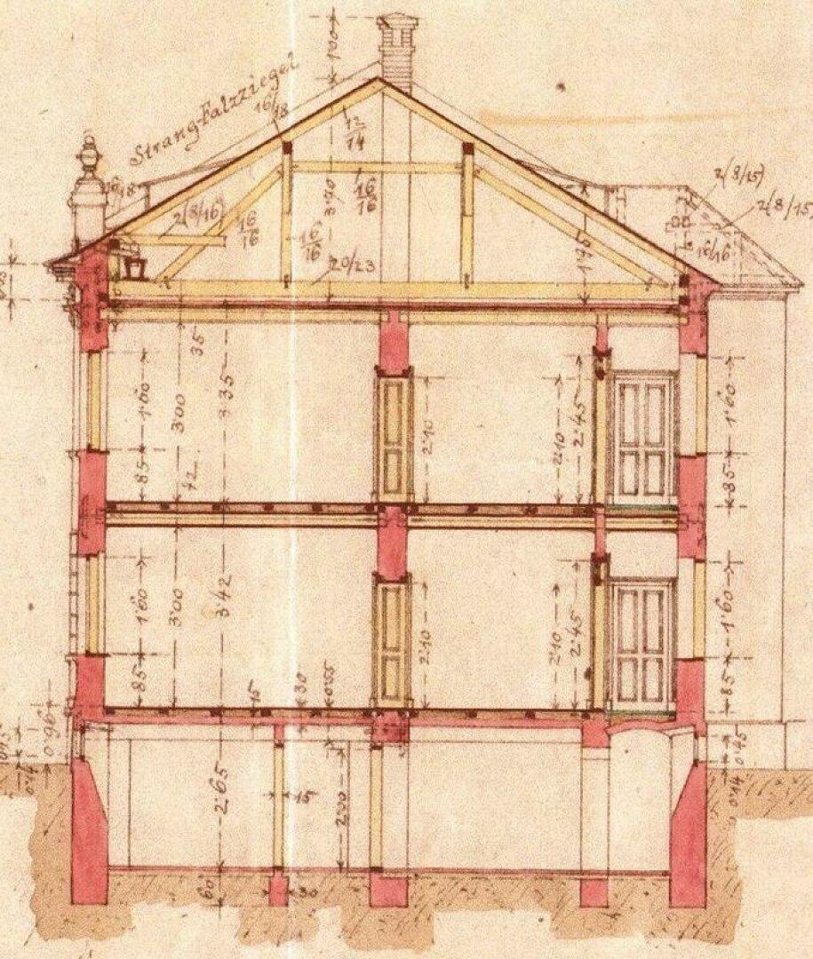 Schnitt (Bestandsplan aus dem Bauakt)