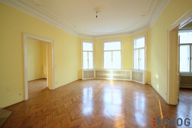 ***Großzügiger Altbau in ehemaligem Palais---7 Zimmer---Wohnung/Praxis kombinierbar---Offener Kamin---Wien Mitte***