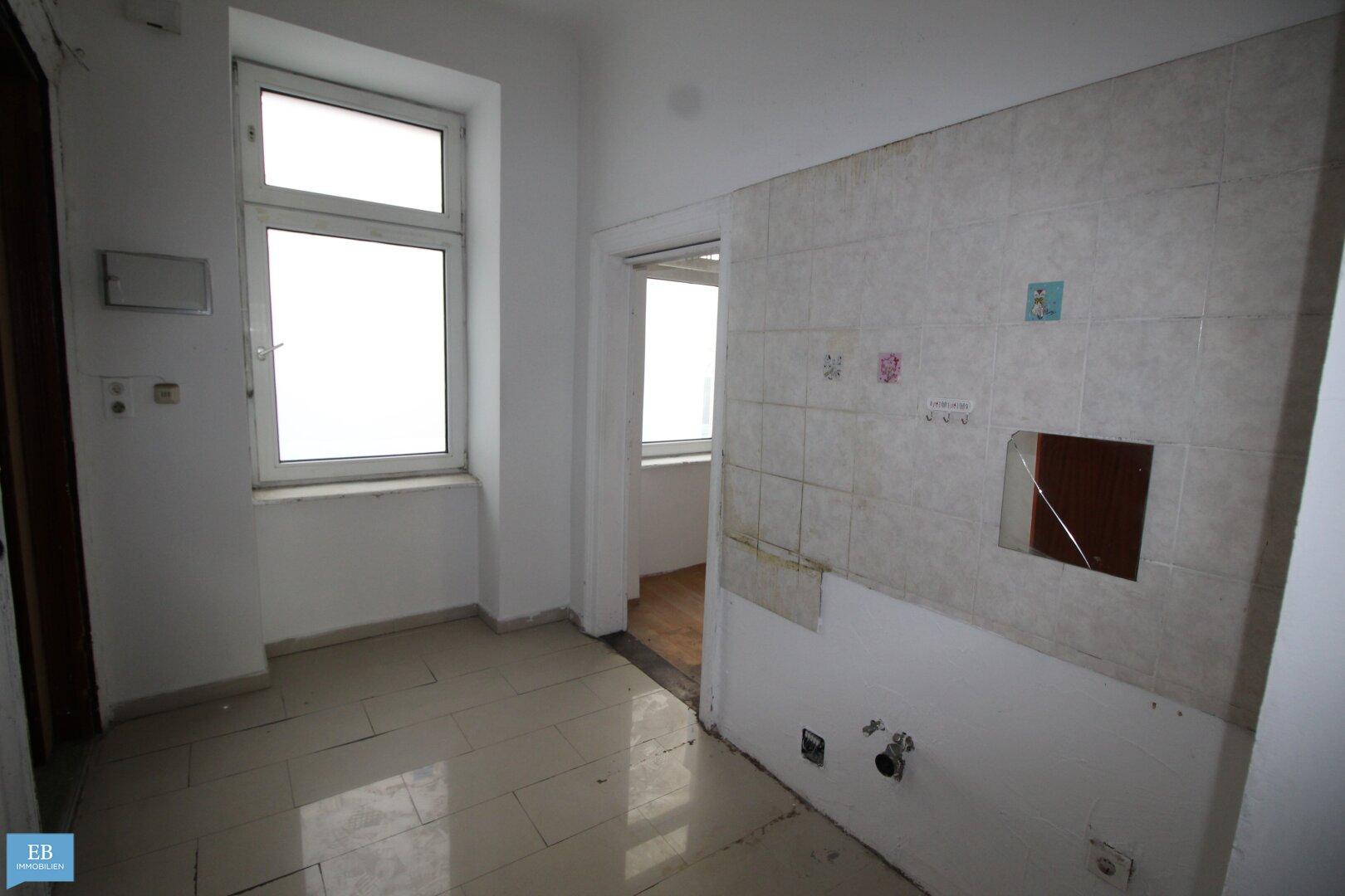 Vorzimmer mit Anschlüsse für die Küche