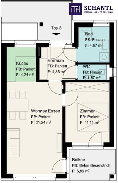 Eine Wohnung die das Herz begehrt: Top ausgestattete, moderne Erstbezugswohnung in absolut bezaubernder Ruhelage ! /  / 8054Graz / Bild 1