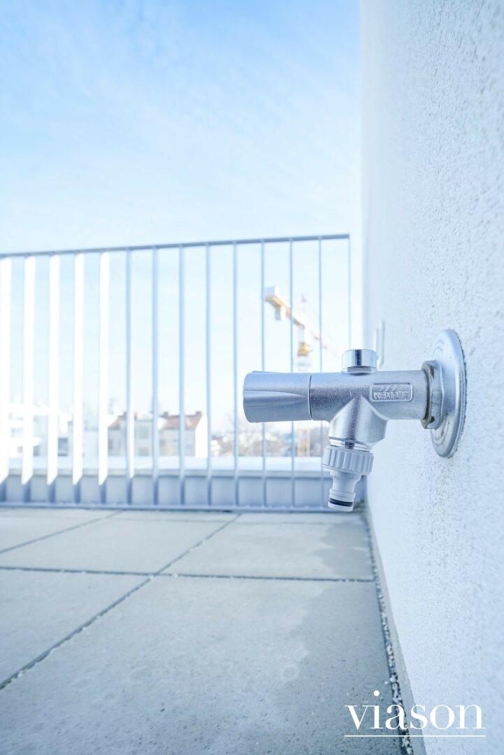 Frostfeste Wasserentnahmestelle Terrasse