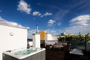 Dachgeschosswohnung mit großer Dachterrasse und Whirlpool sowie traumhaften Ausblick in Döbling