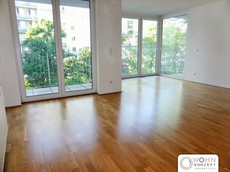 Grünblick: 59m² Neubau + 2 Terrassen und Einbauküche - 1080 Wien