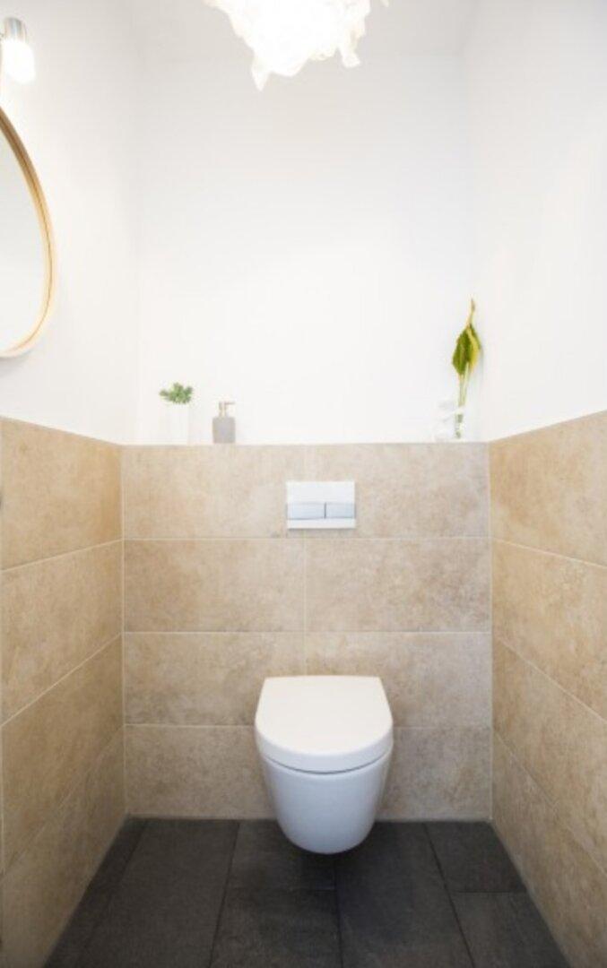 Symbolbild - Toilette mit Handwaschbecken
