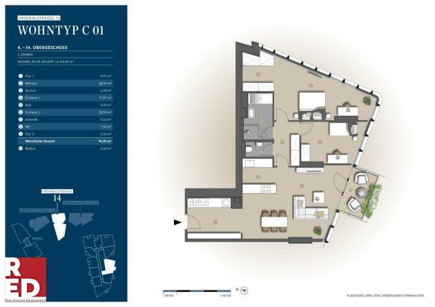 3 Zimmer Wohnung mit Ausblick Süd Anninger / Wienerwald