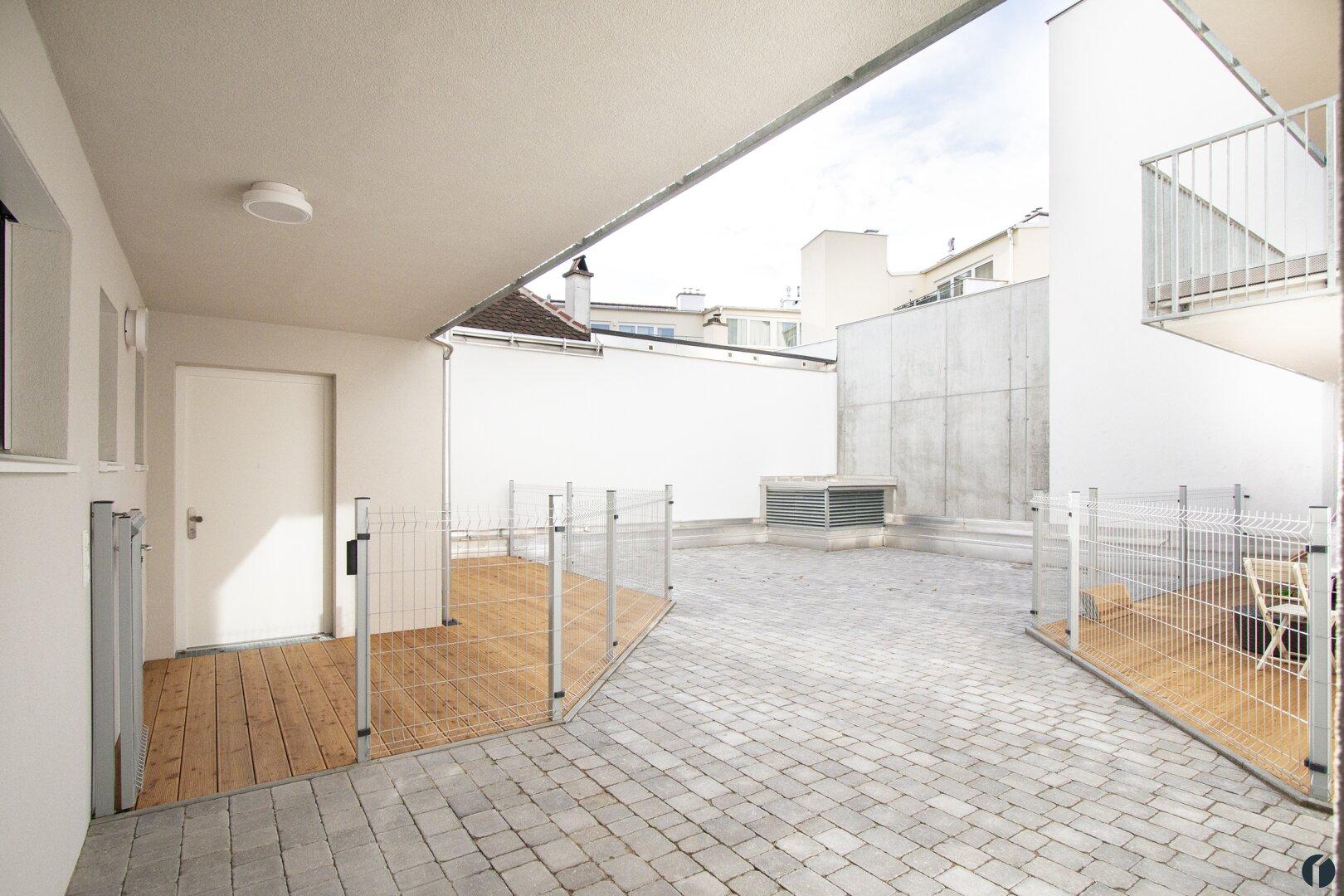 Zugang zur Wohnung im Innenhof