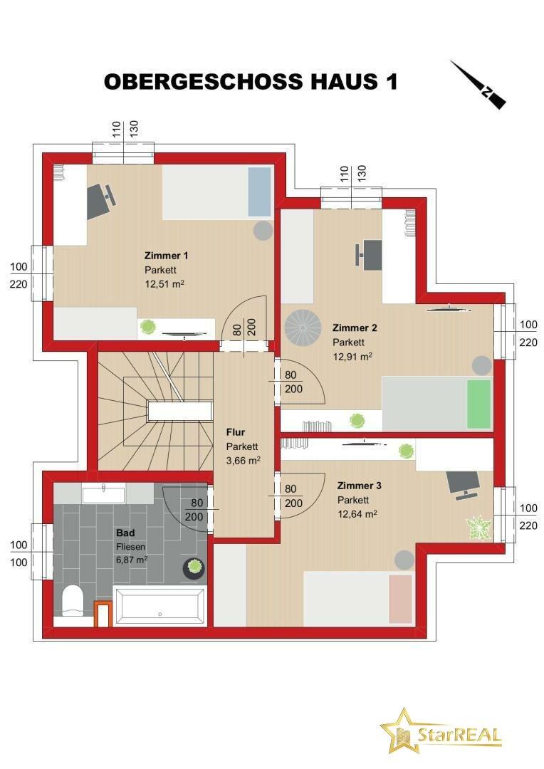 OBERGESCHOSS Haus 1