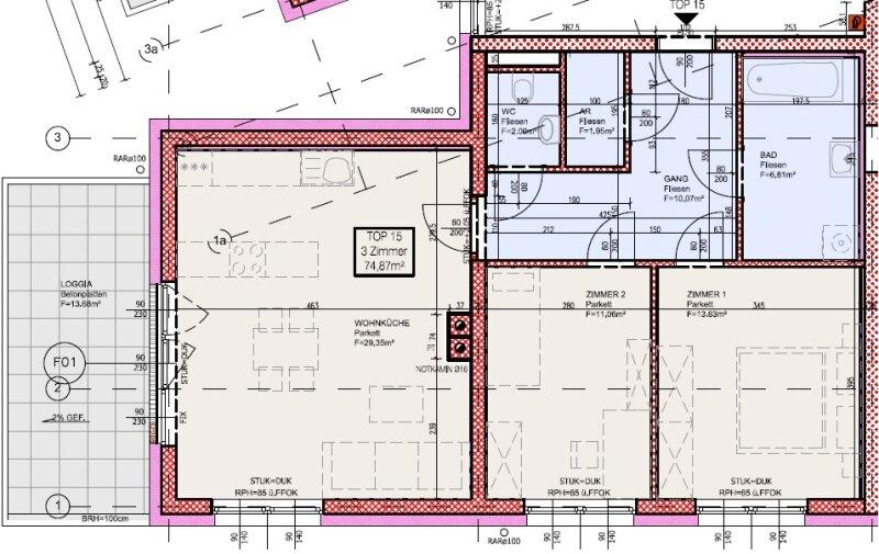 Top 15 - Freifinanzierte 3 Zimmer Wohnung mit Balkon - MIETEN oder MIETKAUF /  / 2700Wiener Neustadt / Bild 4