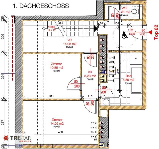 NEU! ++ ERSTBEZUG !!! Dachterrassenwohnung mit 360 Grad Wienblick !!! Terrasse+ Dachterrasse!!! 4 Auto Stellplätze (Top 62) ++ /  / 1100Wien / Bild 11
