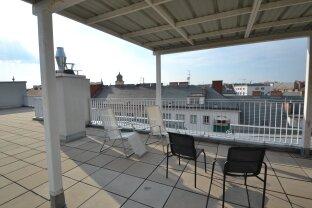 Tolle Wohnung mit verglaster Loggia, große Dachterrasse mit Blick über Wien