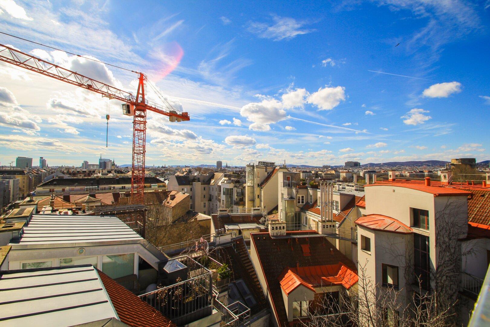 ++ THE SKY IS THE LIMIT ++ Exklusive Dachgeschoss-Maisonetten mit Terrassen und RUNDUM-BLICK über Wien (Projektansicht)