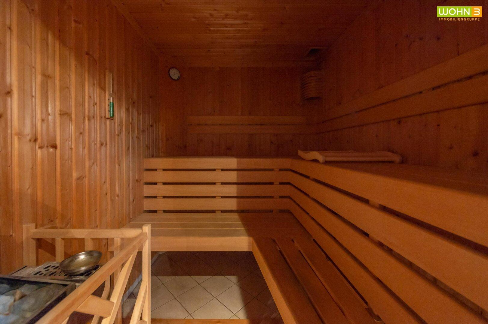 Sauna im Kellergeschoß