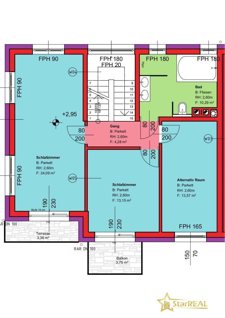 OBERGESCHOSS Haus 2 (3 Zimmer)