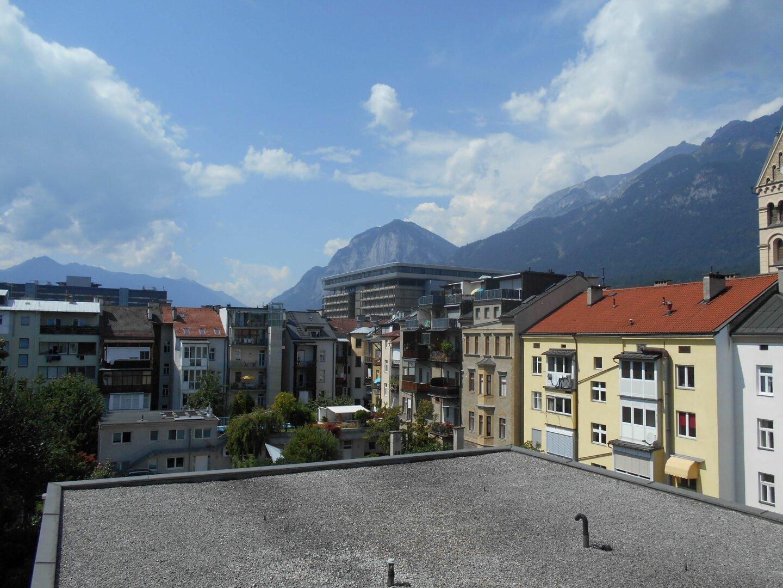 Ausblick vom Balkon nach Westen
