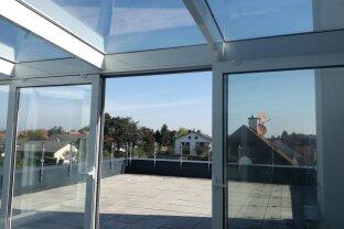 Terrassenwohnung mit Wintergarten  110m²  in Gerasdorf bei Wien, 4 Zimmer 2 Garagenplätze zu mieten