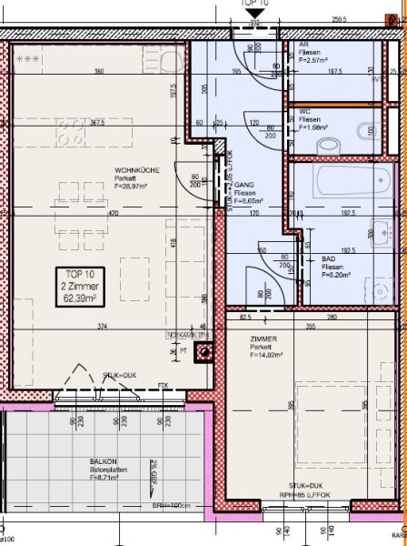 Top 10 - Zwei-Zimmer-Wohnung mit Balkon. Eine echte Rückzugsnische /  / 2700Wiener Neustadt / Bild 8