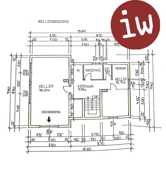 Großzügiges Einfamilienhaus mit Schwimmhalle in Grünruhelage Objekt_618 Bild_60