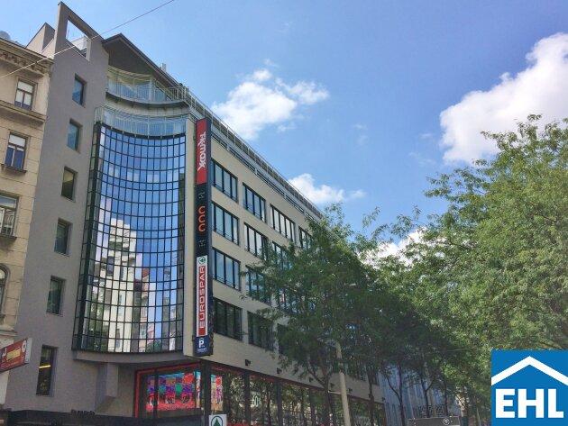 Modernes Bürogebäude im Herzen der Mariahilferstraße mit perfekter Infrastruktur