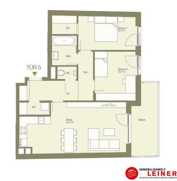 ruhige 3 Zimmerwohnung mit Schrankraum - unbefristeter Mietvertrag! Objekt_10733 Bild_178