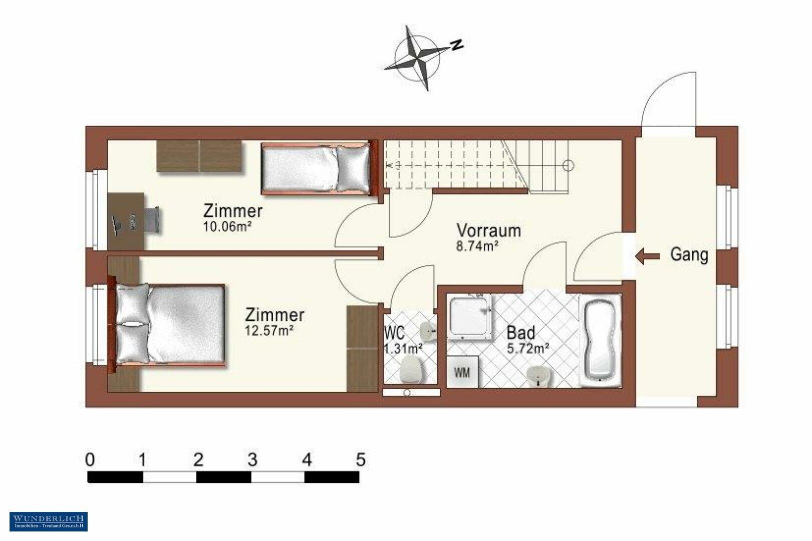 Plan Eingangsebene 4. Stock