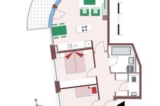 8119 – Helle 3-Zimmer-Wohnung mit Balkon