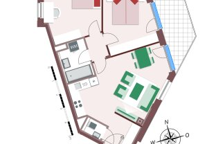 Toll geplante 3-Zimmerwohnung mit Balkon