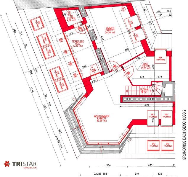 NEU! ++ Erstbezug nähe ?Siebenbrunnenplatz?: Exklusive ca. 155 m² DG- Wohnung mit Terrasse, 4 Zimmer, 1050 Wien (Top 35) ++ /  / 1050Wien / Bild 9