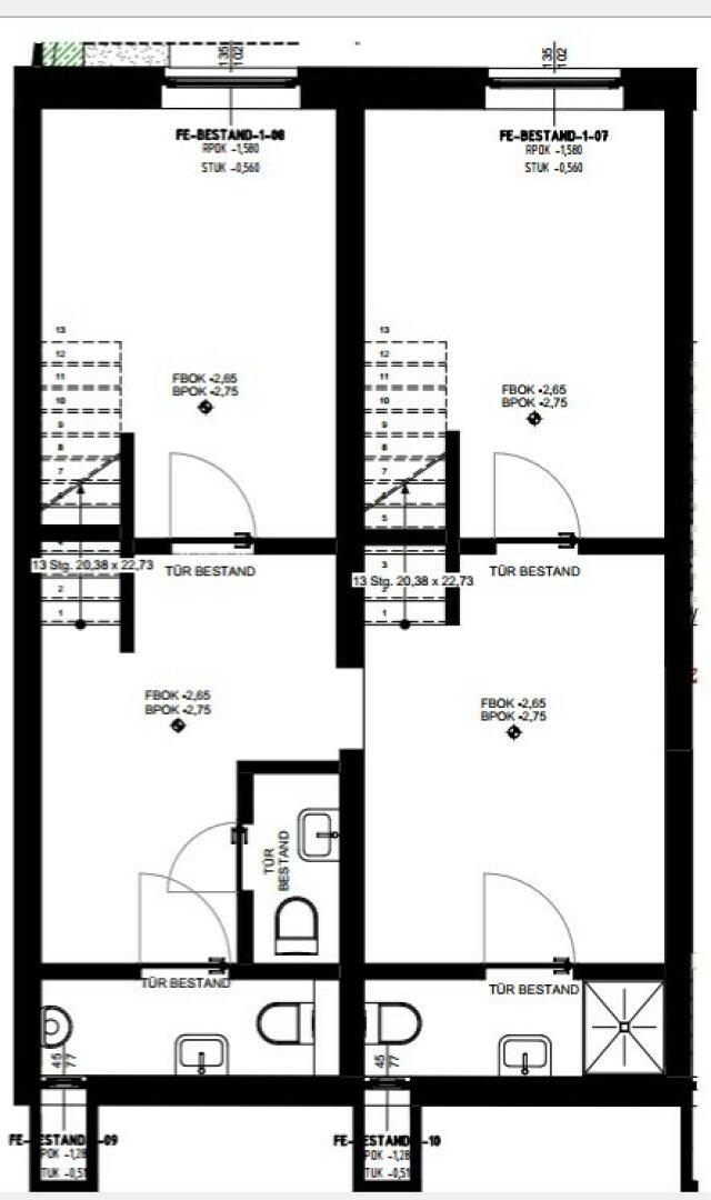 Einteilungsplan Untergeschoss