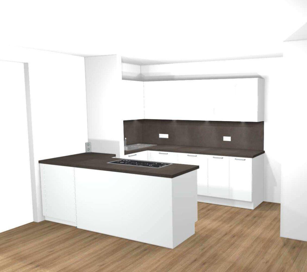 bestellte Küche (Visualisierung)