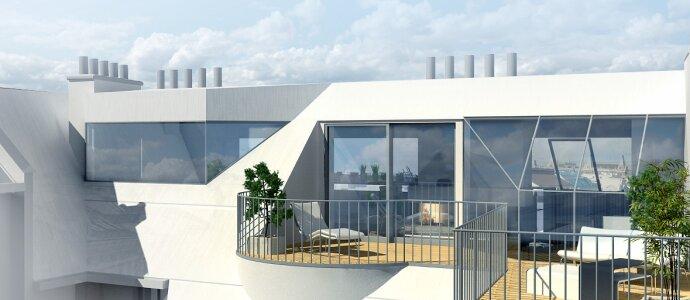 Stylische Dachterrassenwohnung mit Fernblick - Garage optional