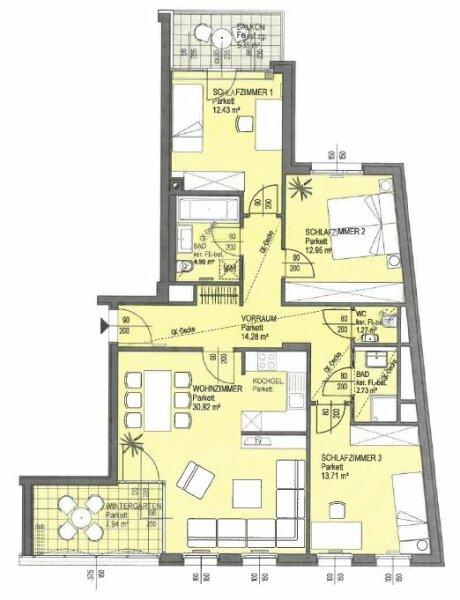 moderne, helle 4 Zimmerwohnung in bester Lage des 19ten Bezirks /  / 1190Wien / Bild 0
