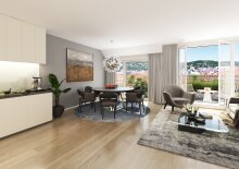 Erstbezug nach Neubau - Auf der Sonnenseite des Lebens - Exklusive 3-Zimmer Dachgeschosswohnung mit Balkon in bester Döblinger Stadtlage