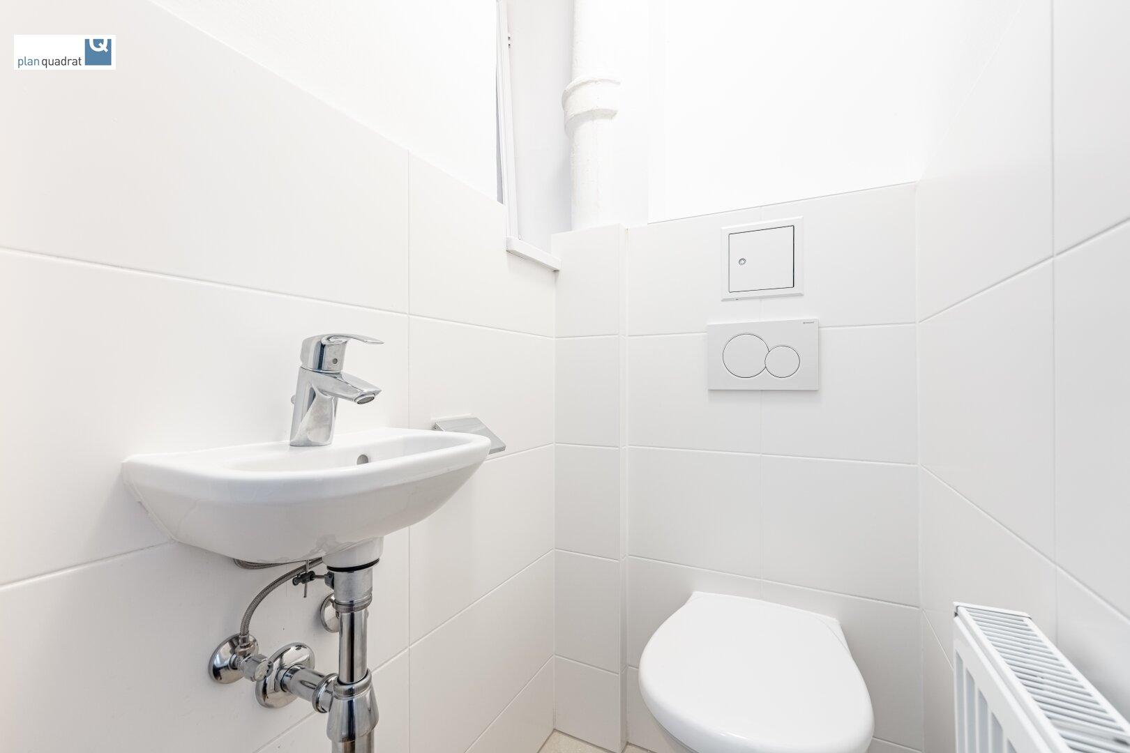 separate Toilette (linke Toilette)