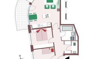 8114 – Südseitige Familienwohnung mit 3 Zimmern