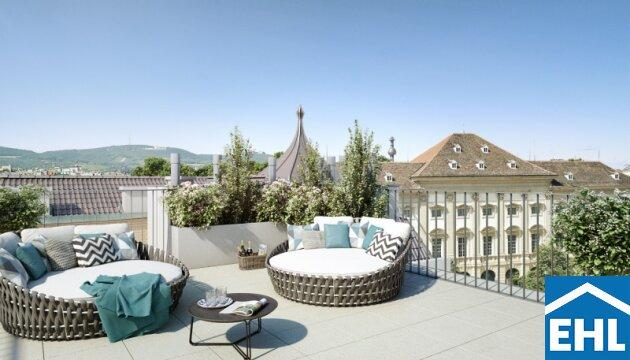 CLAM GALLAS Penthouse - Stilvolles Wohnen im Dachgeschoss beim Palais Liechtenstein