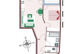 8120 – Gemütliche 2-Zimmer-Wohnung mit schöner Loggia