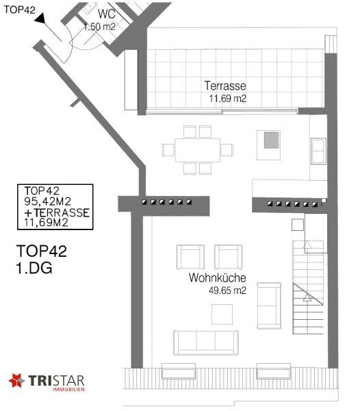 Hochwertig errichtete 3,5 Zimmer-DG-Maisonette mit Wintergarten, Terrasse und fantastischem Wienblick! /  / 1100Wien / Bild 9