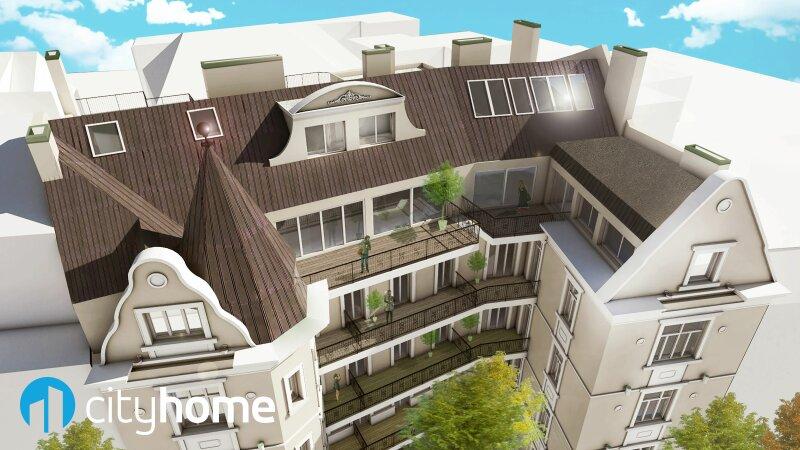 perfekt aufgeteilte 37m² - 16 m² Hofterrasse - Wohnküche - Schlafzimmer - THE RESIDENCE /  / 1140Wien / Bild 3