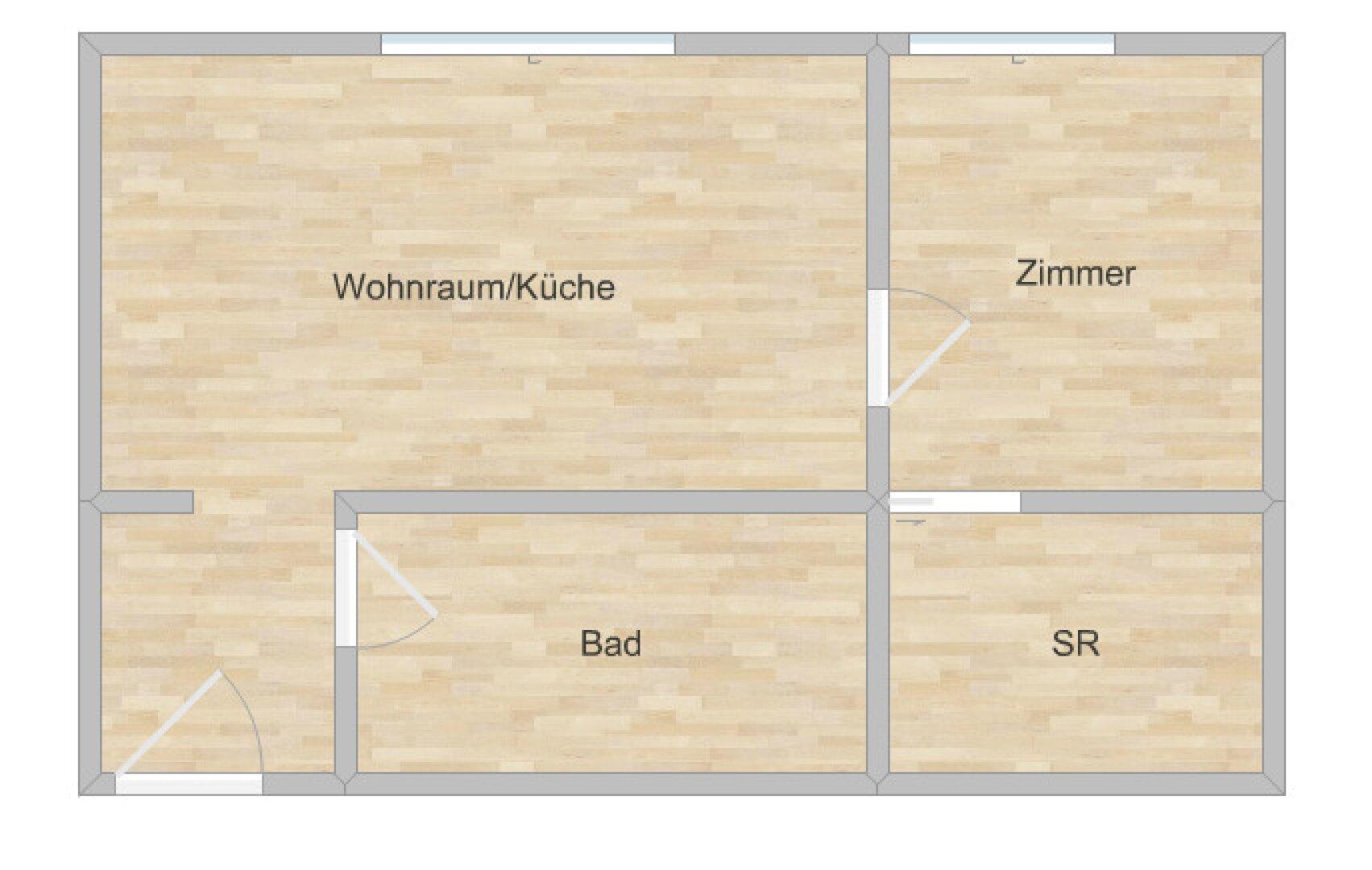 Grundriss Wohnung Fassergasse Hall in Tirol