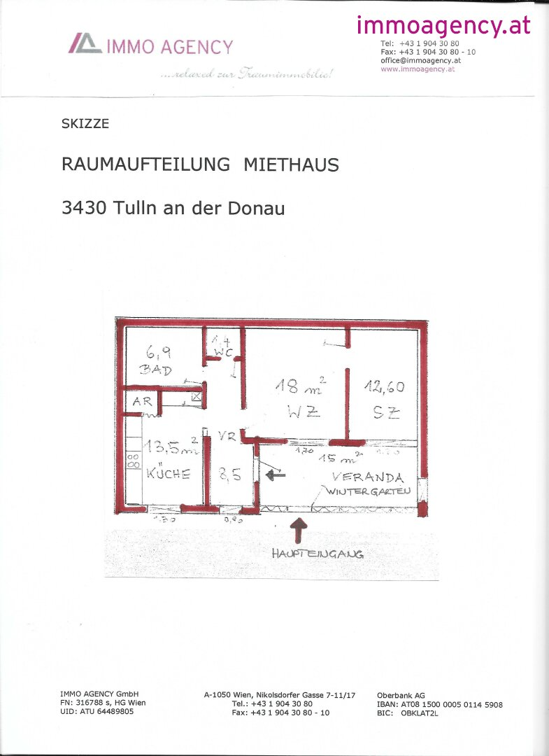 15. Skizze - Raumaufteilung