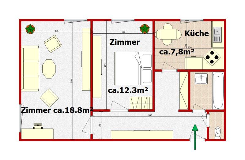 2 Zimmer Wohnung in 1100 Wien