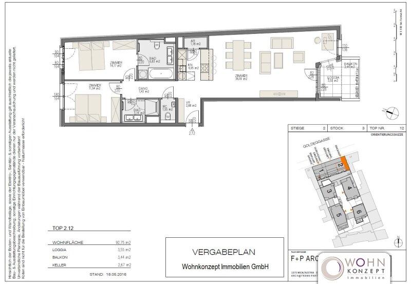 Goldegg Gardens: 96m² Erstbezug + 7m² Balkon - 1040 Wien /  / 1040Wien / Bild 8