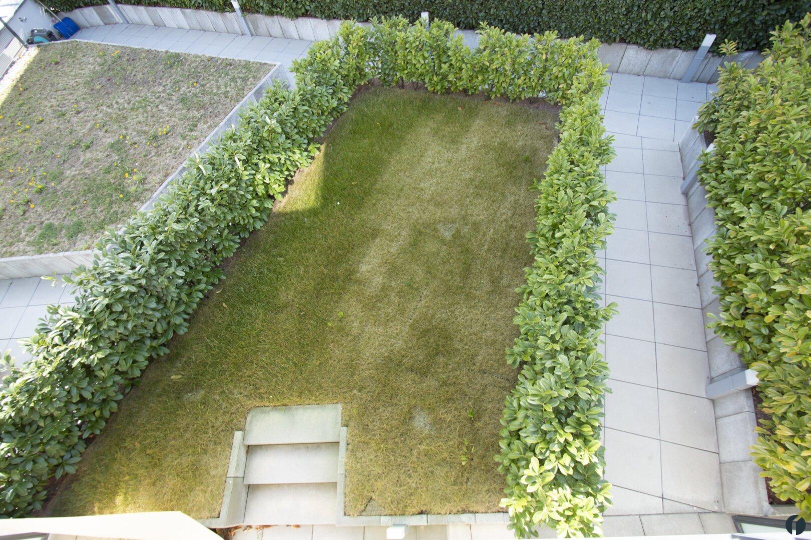 Garten in der unteren Etage