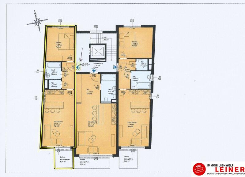 2 Zimmer Wohnung + Eigengarten + Balkon -  Oberlaa, Wohnerlebnis der Extraklasse – Schlüsselfertig – Provisionsfrei! Objekt_8793 Bild_277