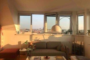 Charmante Dachgeschoss Wohnung mit grosser Terrasse und schönem Wienblick